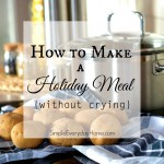 How to Make A Holiday Meal (Without Crying)